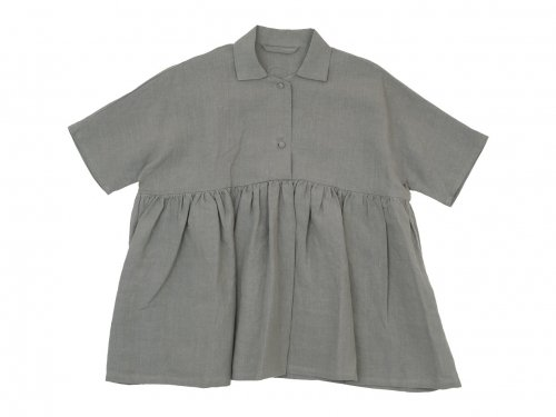 Lin francais d'antan Breton(ブルトン) Short Sleeve Shirts GRAY