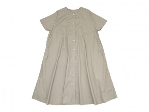 Lin francais d'antan Martinu(マルティヌー) Short Sleeve Bouton one-piece LIGHT GRAY