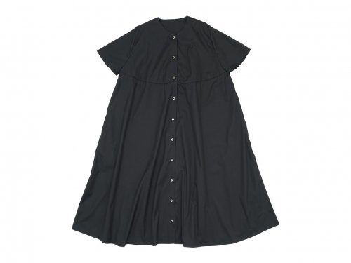 Atelier d'antan Martinu(マルティヌー) Short Sleeve Bouton one-piece BLACK