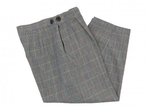 Lin francais d'antan Salvador(サルヴァドール) tack pants Cotton Linen