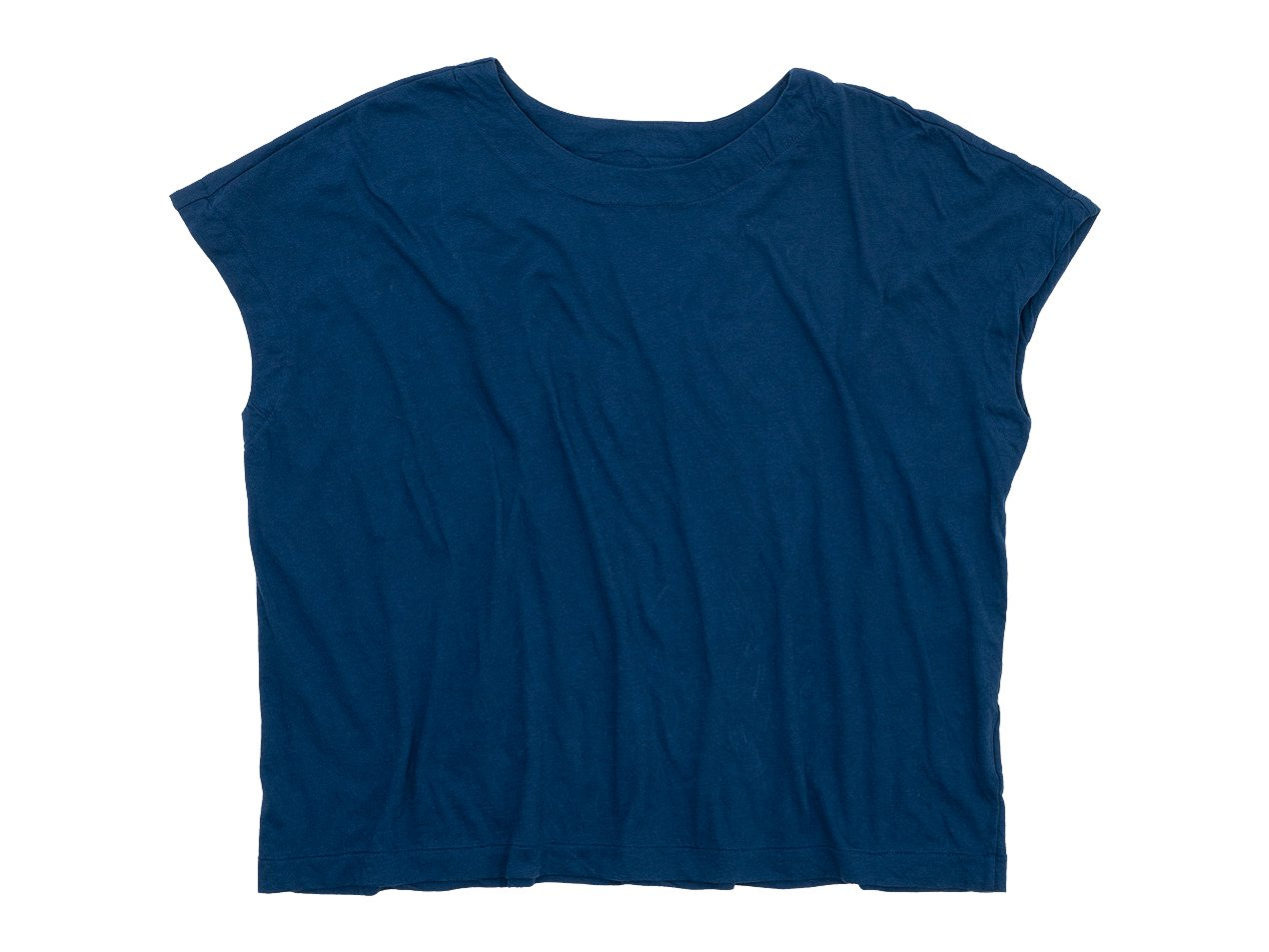 Atelier d'antan Peel(ピール) Cotton No Sleeve T-Shirt NAVY