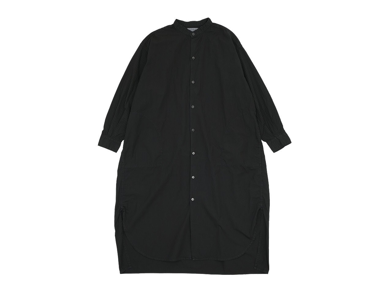 ordinary fits EDWARD STAND ONEPIECE STRIPE BLACK