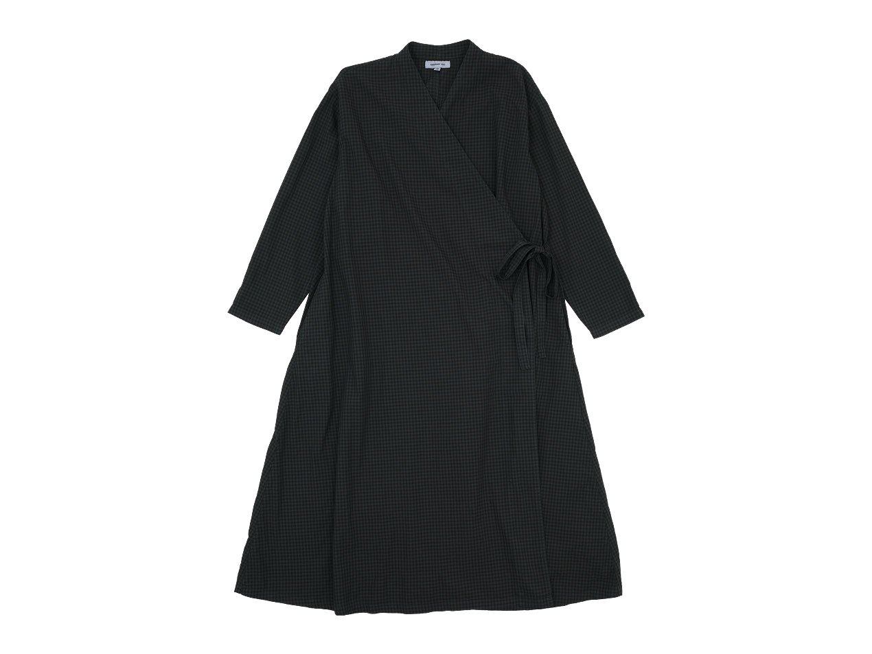 ordinary fits APRON ONEPIECE CHECK BLACK