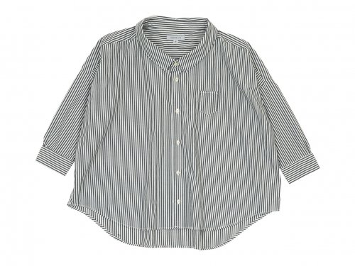 ordinary fits BARBER SHIRT STRIPE OFF WHITE