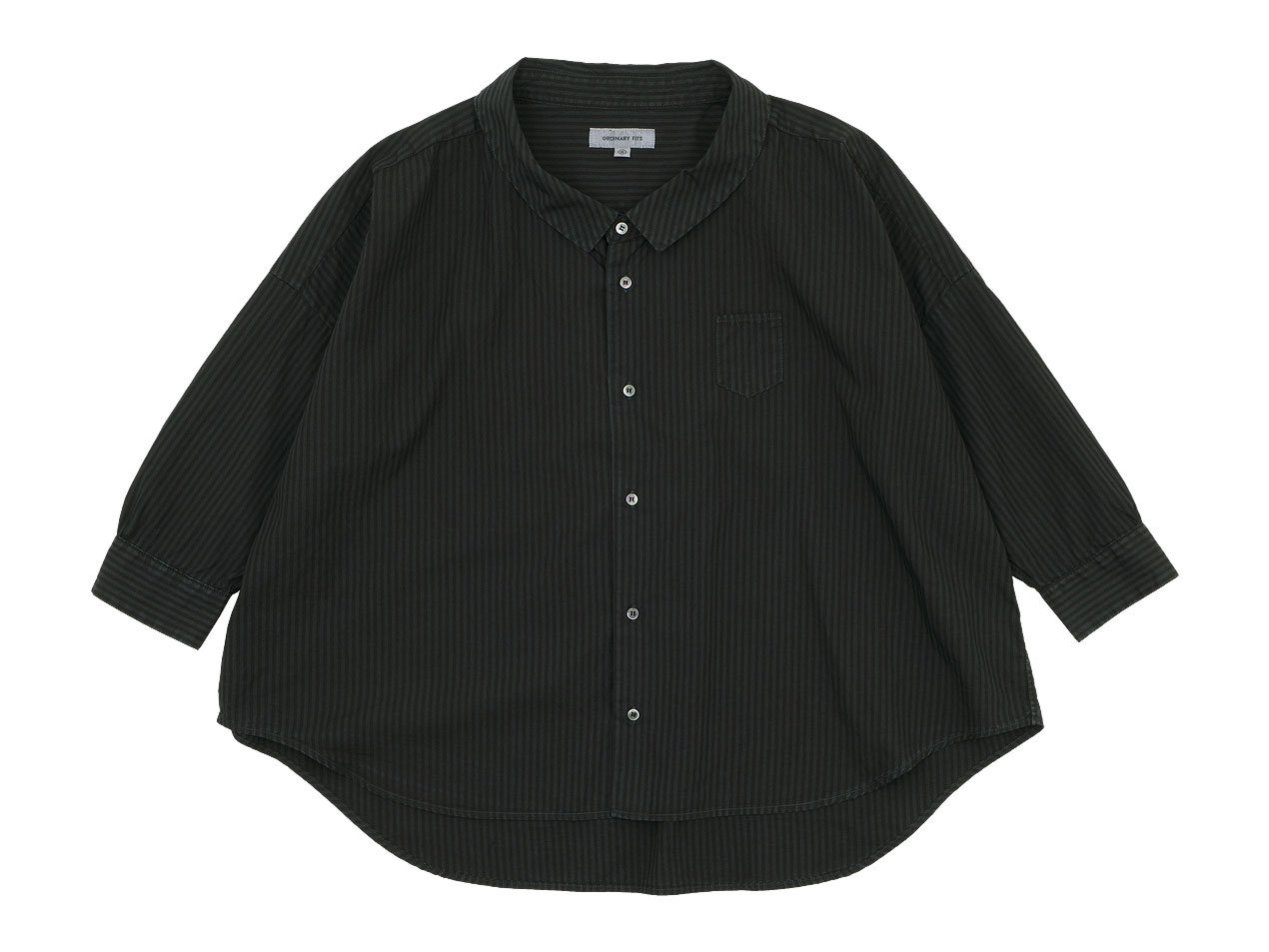 ordinary fits BARBER SHIRT STRIPE BLACK