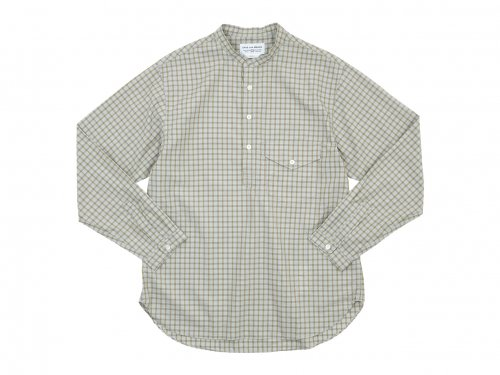 ENDS and MEANS Band Collar P/O Shirts COLOR CHECK