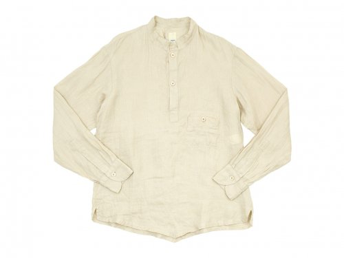 TATAMIZE P/O STAND COLLAR SHIRTS BEIGE