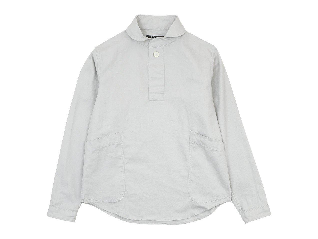LOLO コットンプルオーバーシャツ LIGHT GRAY