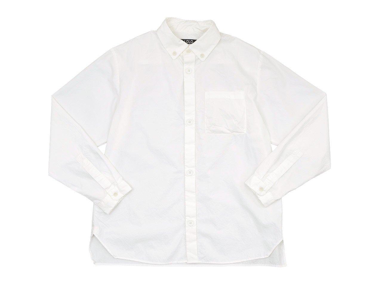 LOLO 40タイプライター ボタンダウンシャツ WHITE