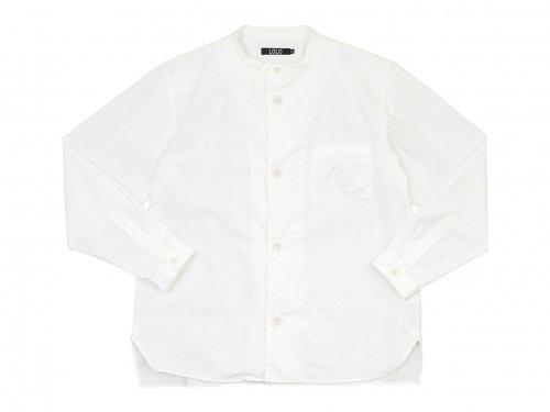 LOLO 40タイプライター スタンドカラーシャツ WHITE