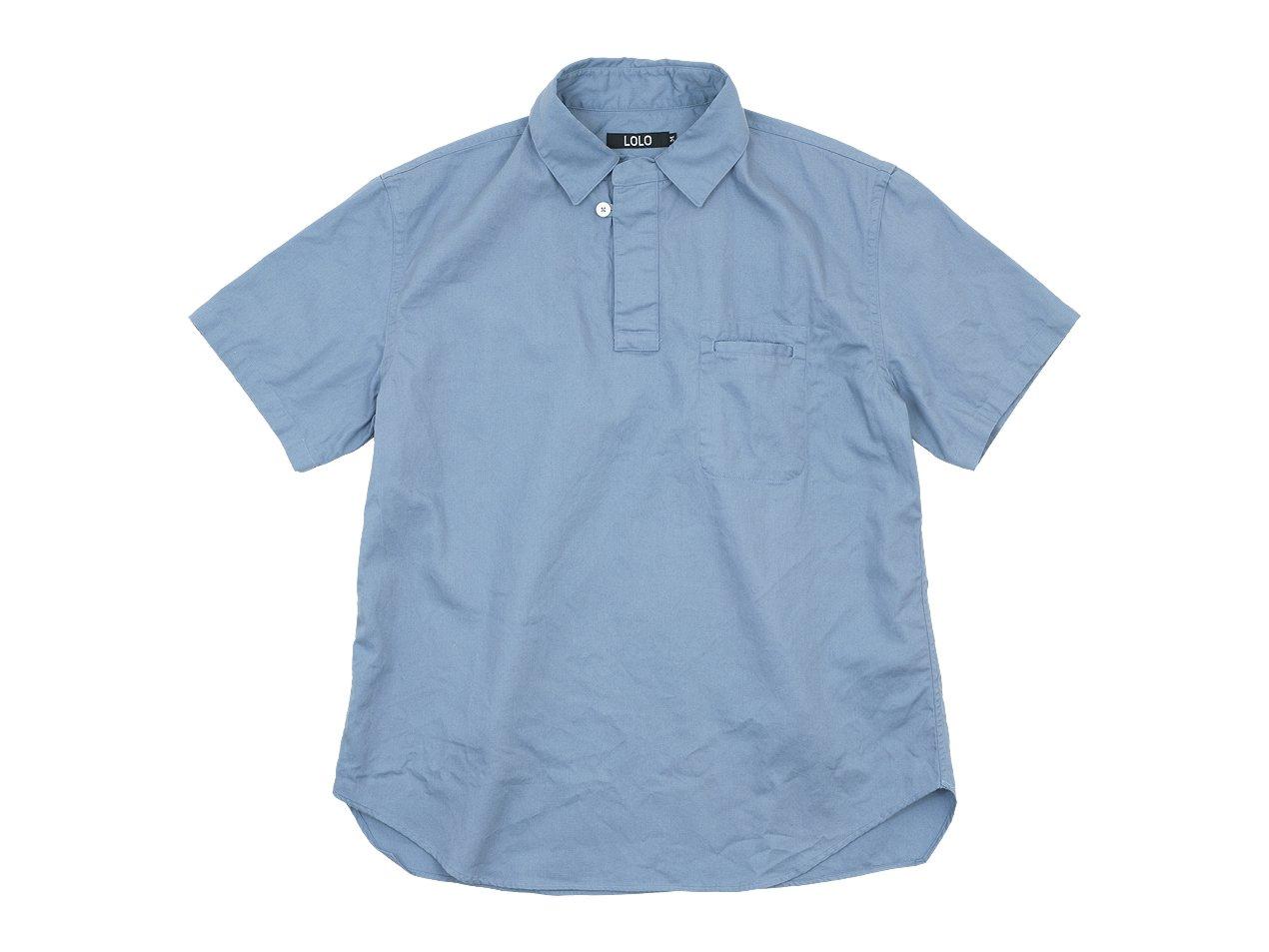 LOLO プルオーバー 半袖シャツ BLUE GRAY