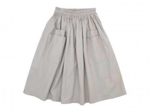 homspun コンパクトウェザー ダブルポケット ギャザースカート