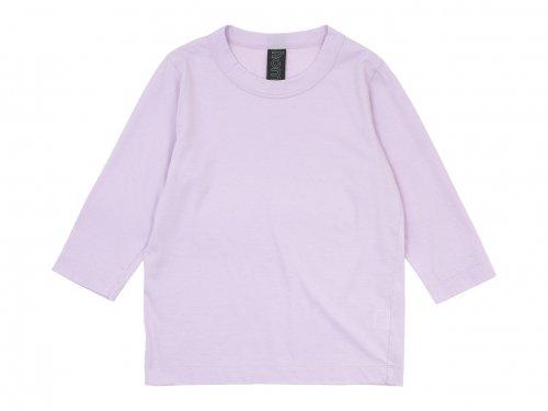 homspun 30/1天竺 七分袖Tシャツ ピンク