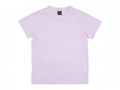homspun 30/1天竺 半袖Tシャツ ピンク