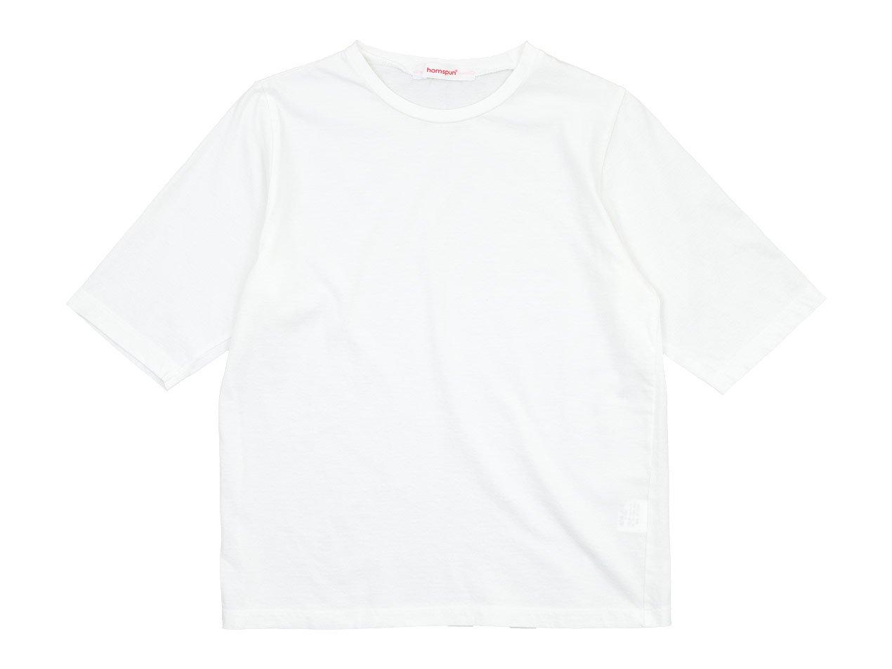 homspun 30/1天竺 五分袖Tシャツ サラシ