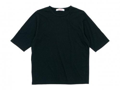 homspun 30/1天竺 五分袖Tシャツ ブラック