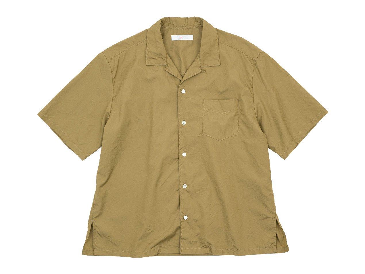 homspun 100/2ブロード オープンカラーシャツ ベージュ