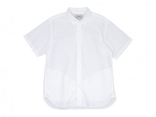 YAECA コンフォートシャツ リラックスロング 半袖 WHITE 〔メンズ〕