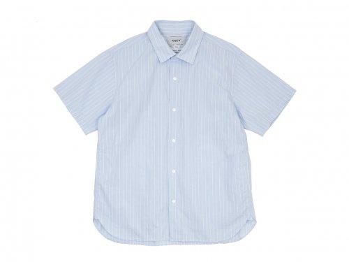 YAECA コンフォートシャツ リラックスロング 半袖 BANKER STRIPE 〔メンズ〕