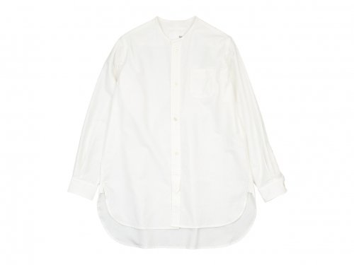 blanc no collar long shirts cotton WHITE
