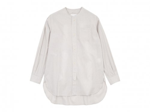 blanc no collar long shirts cotton OFF x GRAY