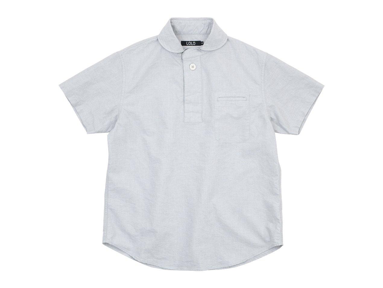LOLO コットンプルオーバーシャツ 半袖 LIGHT GRAY