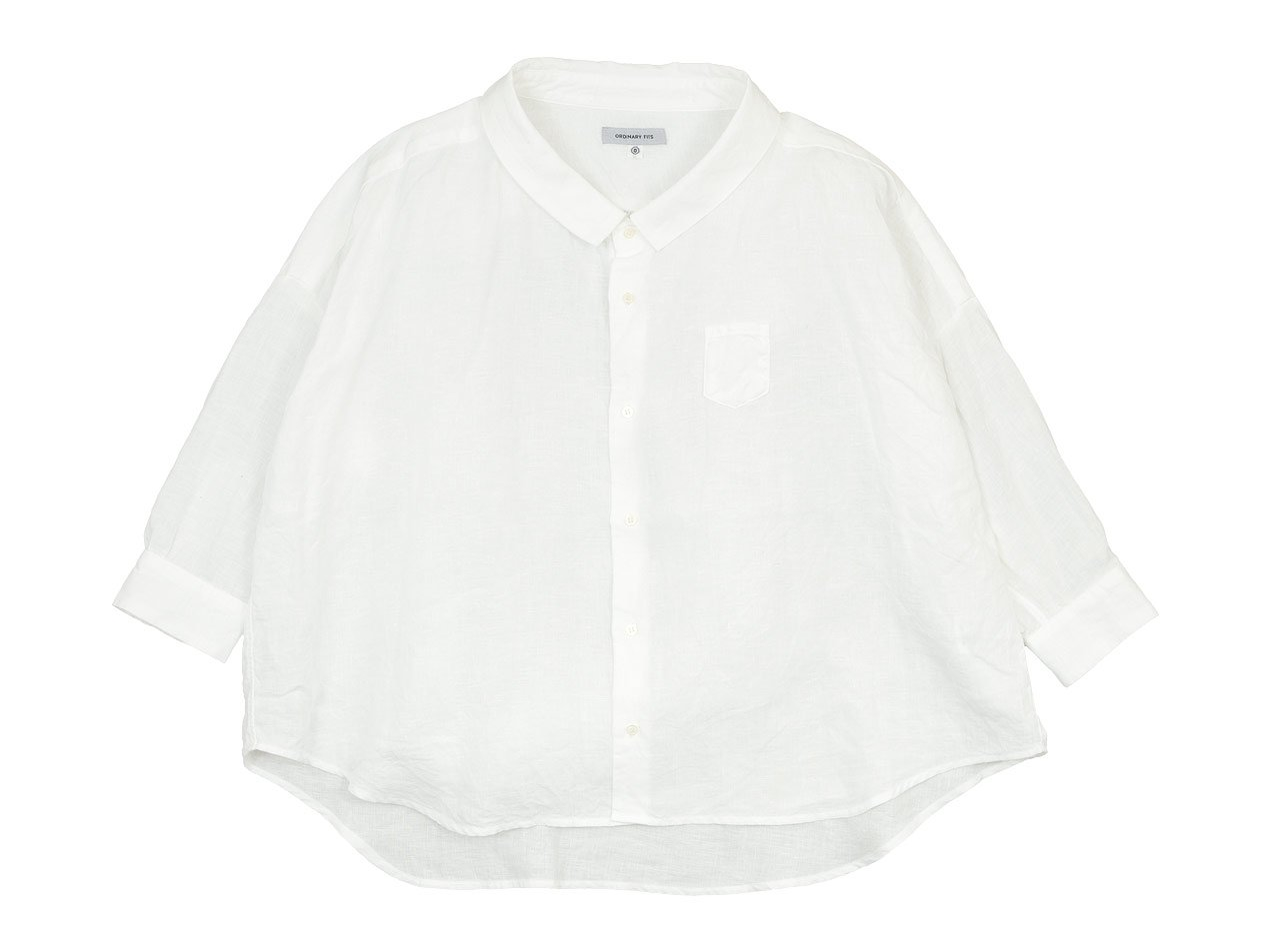 ordinary fits LINEN BARBER SHIRT OFF WHITE