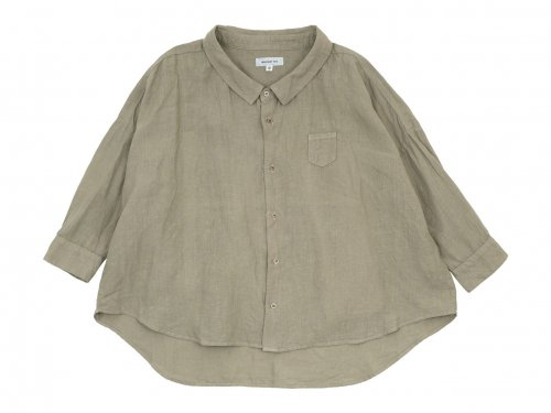 ordinary fits LINEN BARBER SHIRT GRAY
