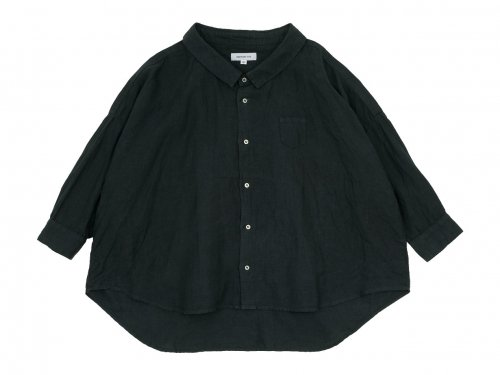 ordinary fits LINEN BARBER SHIRT BLACK