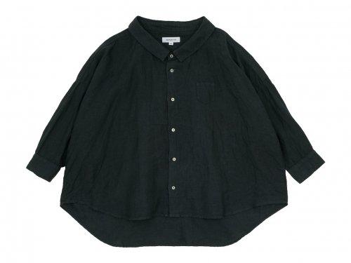 ordinary fits LINEN BARBER SHIRT BLACK