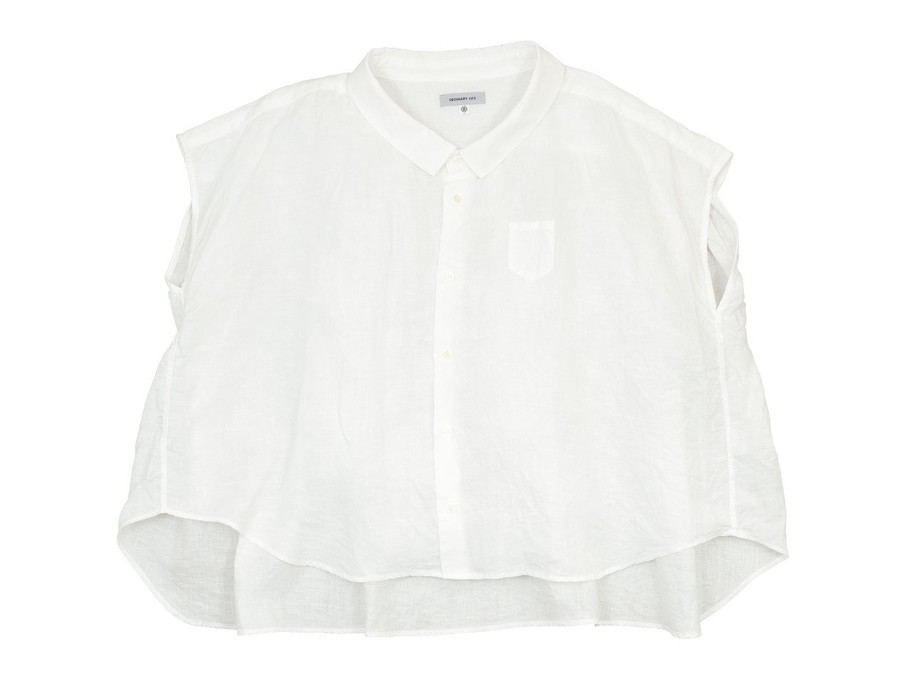 ordinary fits LINEN BARBER NO SLEEVE SHIRT OFF WHITE
