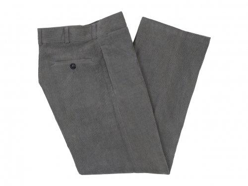TUKI macaroni trousers corduroy 23SAGE GREEN