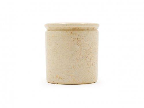 陶器のミニポット ベージュ 01