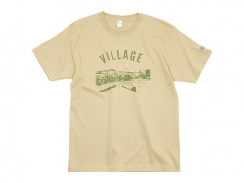 【別注】 ENDS and MEANS Village Tee BEIGE