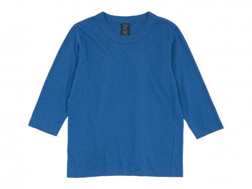 homspun 30/1天竺七分袖Tシャツ ブルー