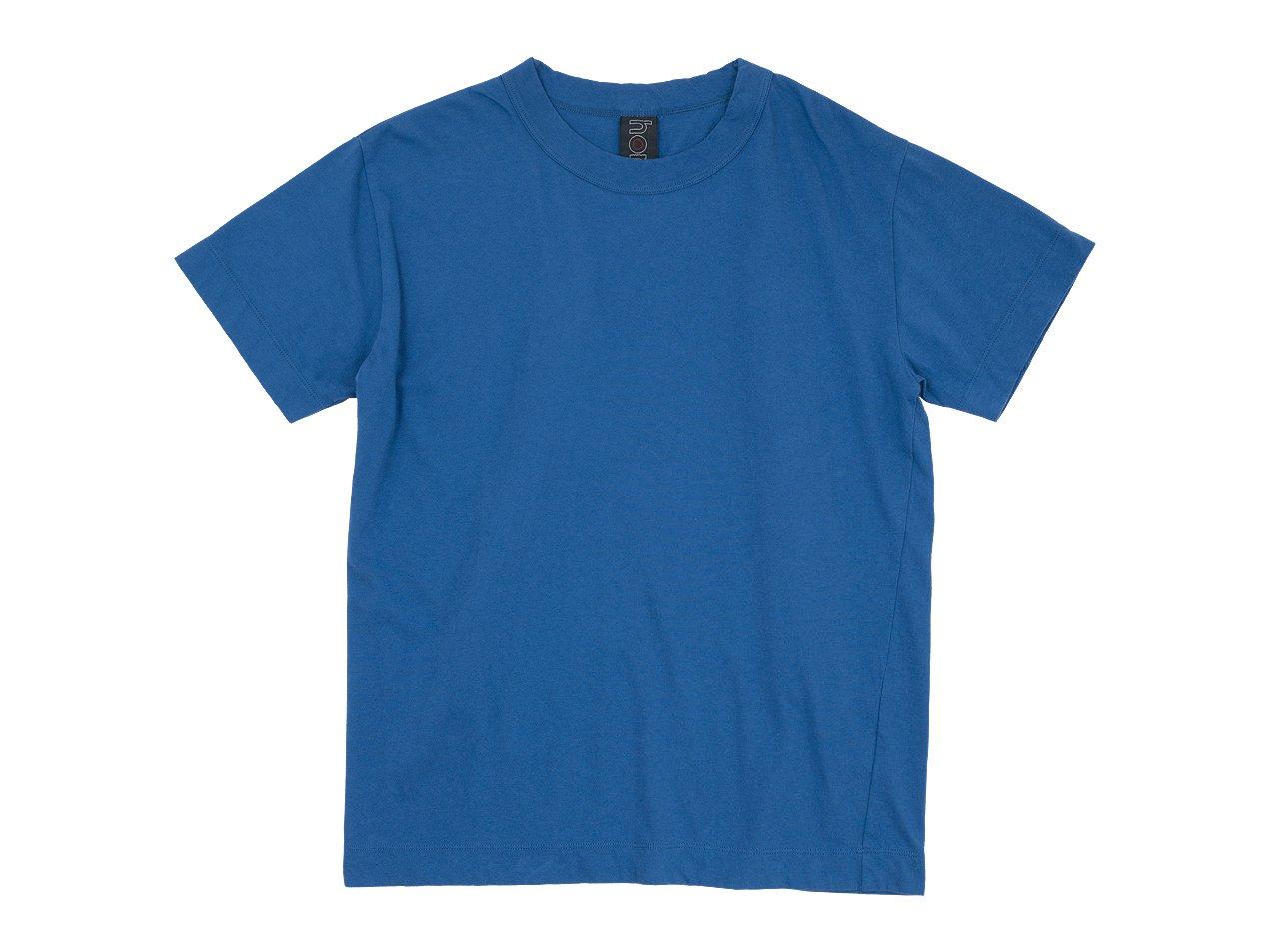 homspun 30/1天竺半袖Tシャツ ブルー 〔メンズ〕