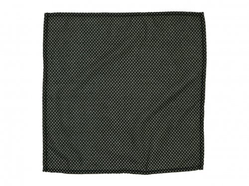 homspun 60/1ローン 小花プリント ハンカチ ブラック