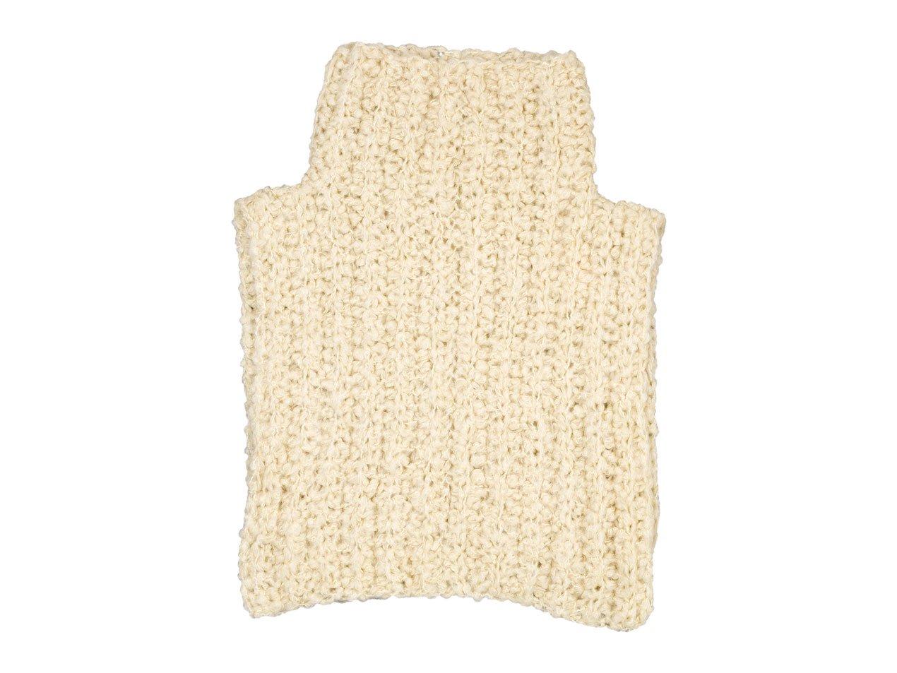 homspun 手編みケープ オフホワイト