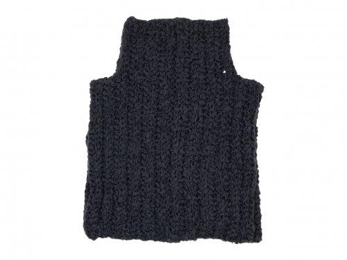 homspun 手編みケープ チャコール