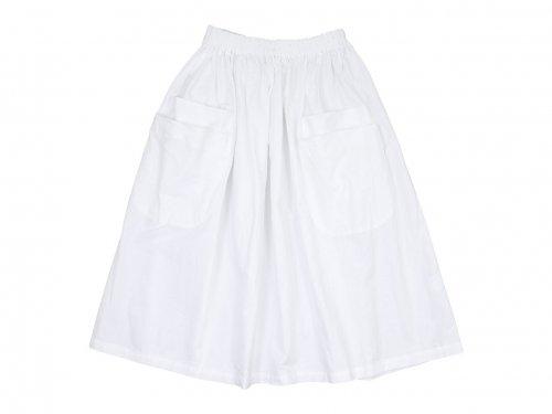 homspun オックス ダブルポケットギャザースカート ホワイト
