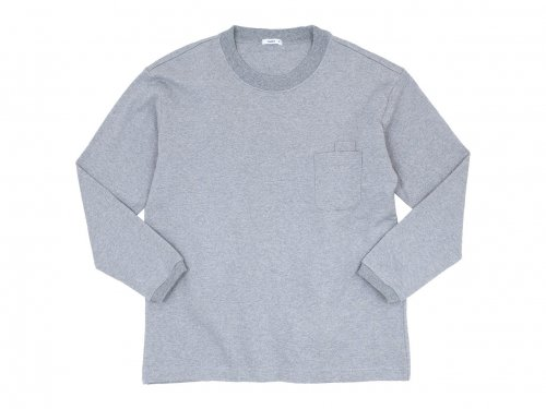 maillot US cotton double pocket long-T TOP GRAY