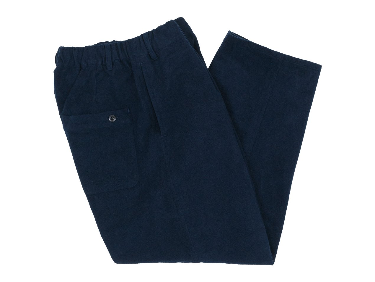 maillot mature cotton nel easy pants NAVY