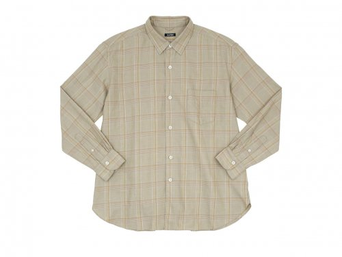 maillot mature twill check regular shirts BEIGE
