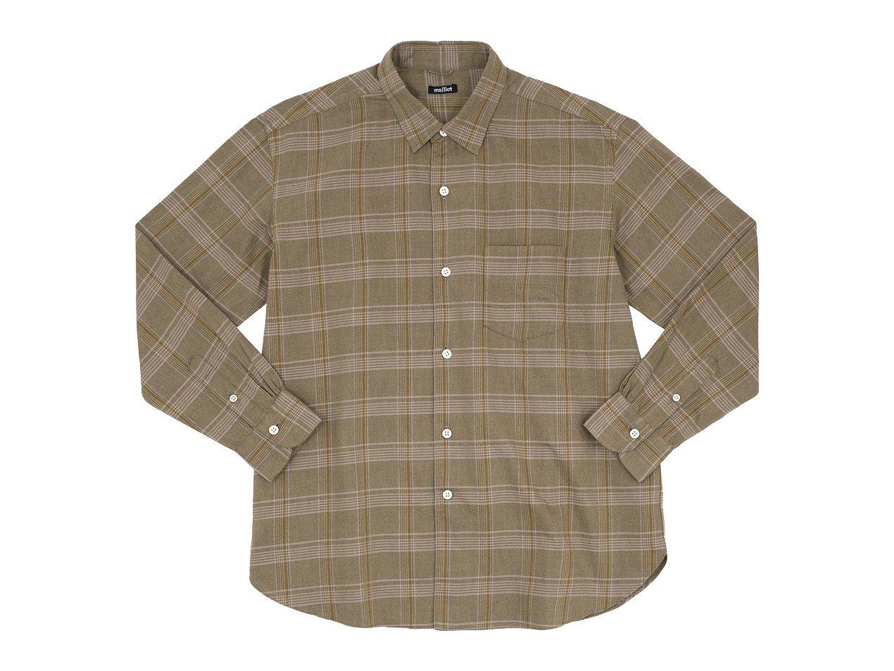 maillot mature twill check regular shirts BROWN