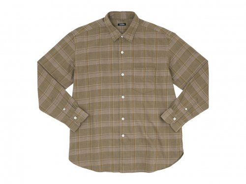 maillot mature twill check regular shirts BROWN