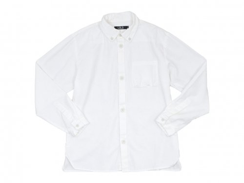 LOLO ステッチなしB.D オックスフォードシャツ WHITE