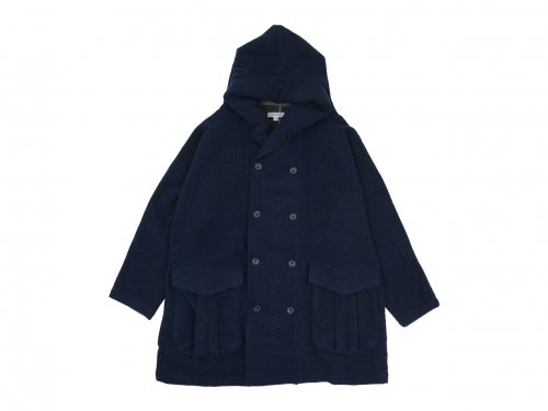ordinary fits SHAWL PARKA COAT NAVY