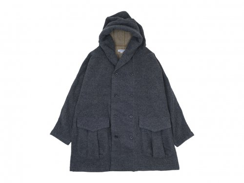 ordinary fits SHAWL PARKA COAT GRAY