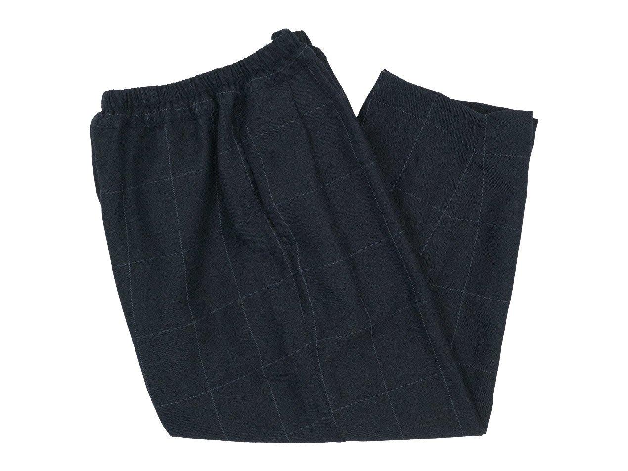 ordinary fits NARROW BALL PANTS WOOL LINEN CHECK