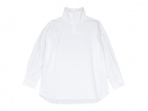 TOUJOURS High Neck Big Shirt 11White 【MM33DS01】